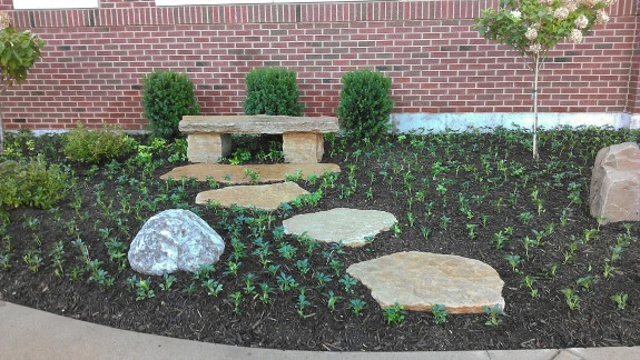 Part of a memorial garden we did at a church in Centerville.